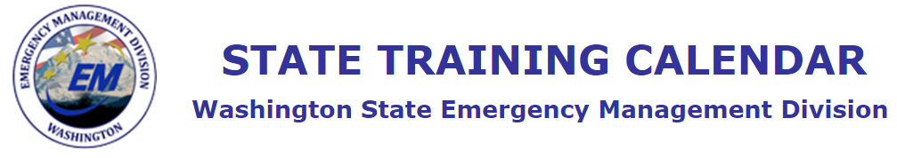 Washington State Emergency Management Division Training Calendar