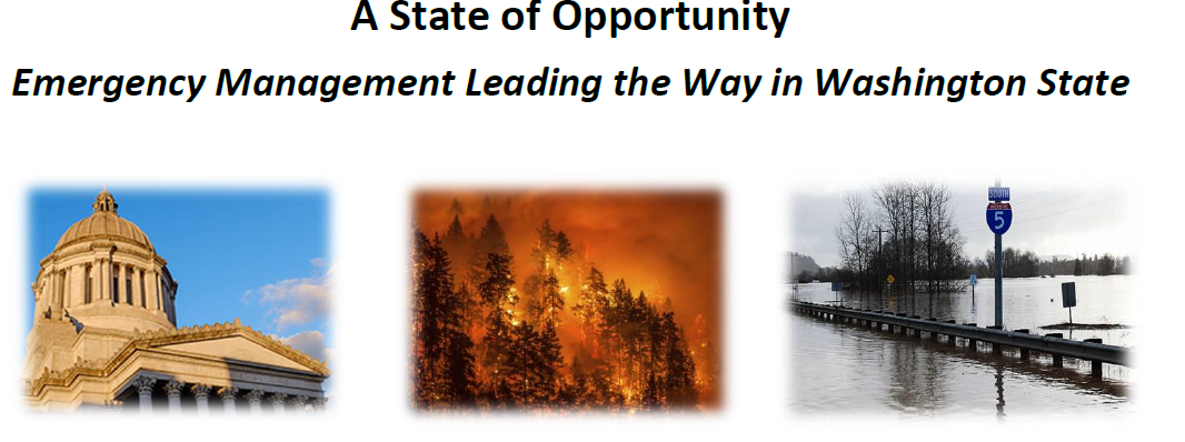 2019 WSEMA Conference theme, a State of Opportunity, Emergency Management Leading the Way in Washington State