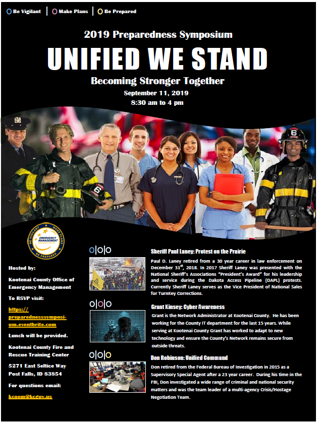 2019 Preparedness Workshop, Untied We Stand